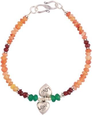 Kirti Gems Sterling Silver Carnelian Bracelet