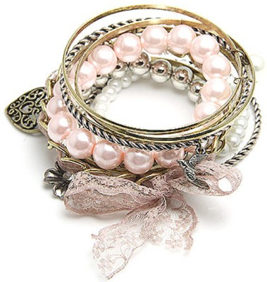 Young & Forever Alloy, Lac Bangle Set