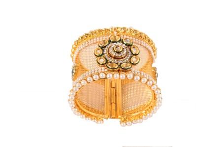 Ankur Brass Diamond Yellow Gold Kada