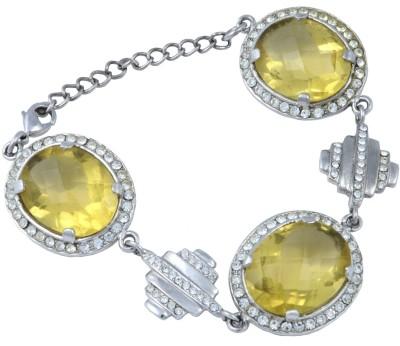 Trisha Alloy Crystal Rhodium Bracelet