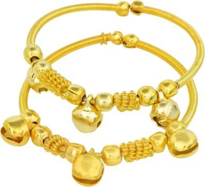 Memoir Brass 24K Yellow Gold Kada