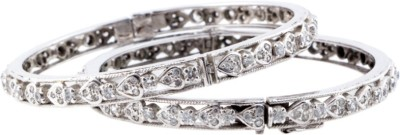 Shrungar Sterling Silver Cubic Zirconia Sterling Silver Bangle