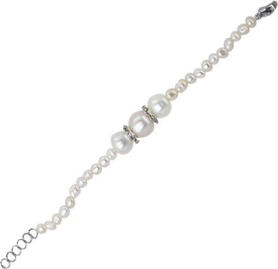 Prisha Collections Sterling Silver Pearl Silver Bracelet