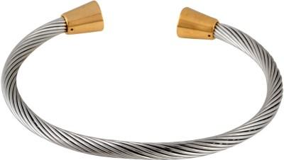 the jewelbox Stainless Steel Rhodium Cuff