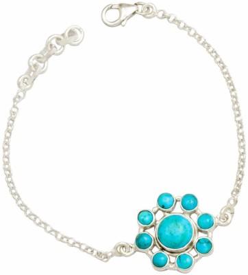 YugshaJewels Silver Turquoise Bracelet