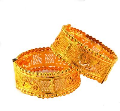 imillery Alloy Yellow Gold Bracelet Set