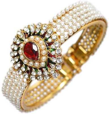 Jewels Guru Brass Cubic Zirconia Bracelet