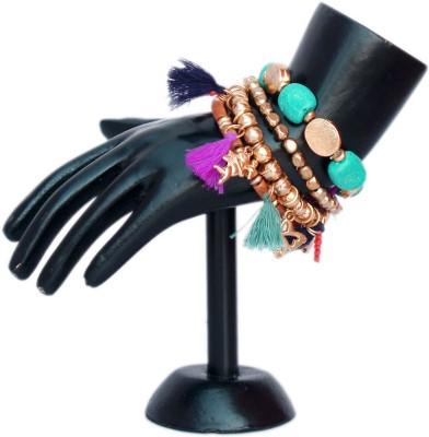 VR Designers Wood, Metal, Plastic Charm Bracelet