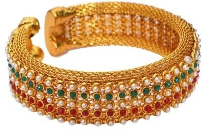 Pourni Brass Pearl Brass Kada