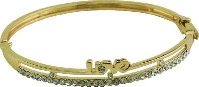 High Trendz Alloy Zircon Yellow Gold Bracelet