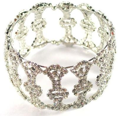 Achal Metal Crystal Rhodium Bracelet