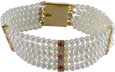 Pearl Paradise Alloy Pearl Yellow Gold Bracelet