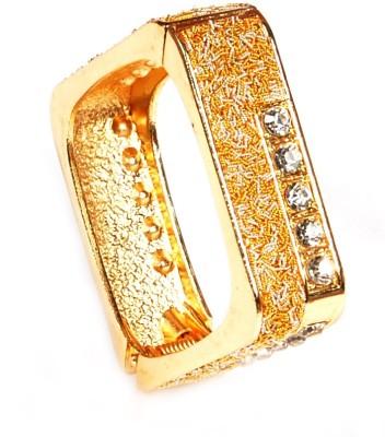 University Trendz Alloy Crystal 18K Yellow Gold Bracelet