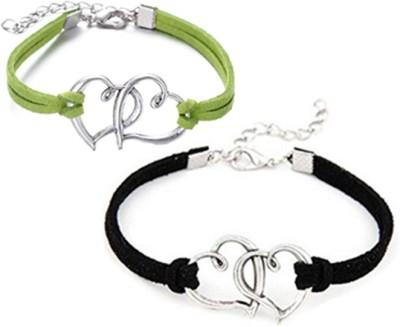 Karatcart Zinc Silver Bracelet Set