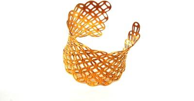 Gajraula Crafts Alloy 18K Yellow Gold Cuff