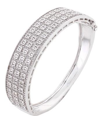 Dilan Jewels Alloy Zircon Silver Bracelet