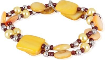 Trendy Baubles Metal, Acrylic Rhodium Bracelet