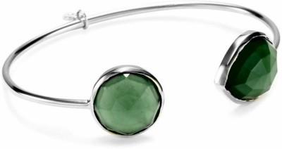 PeenZone Silver Emerald, Zircon Silver Bracelet