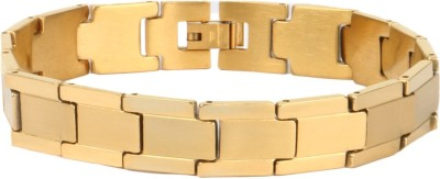 the jewelbox Stainless Steel Yellow Gold Bracelet
