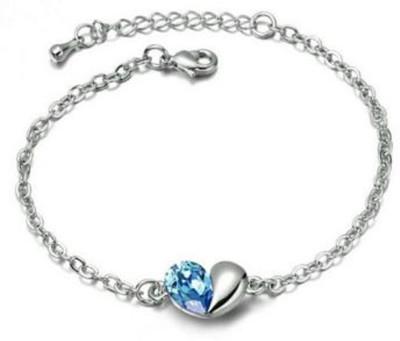 Karatcart Zinc Zircon Platinum Bracelet Set