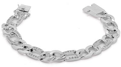 Voylla Sterling Silver Cubic Zirconia Silver Bracelet