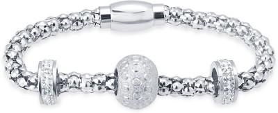 Tvesha Alloy Rhodium Bracelet