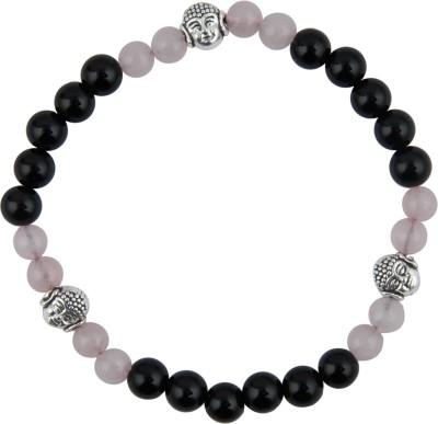 Pearlz Ocean Alloy Onyx, Quartz Bracelet