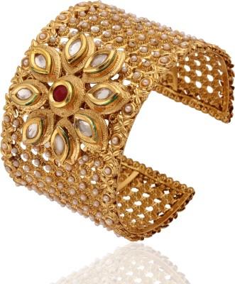 Rich Lady Alloy Yellow Gold Kada