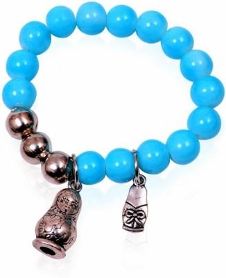 Trendy Baubles Metal Rhodium Charm Bracelet