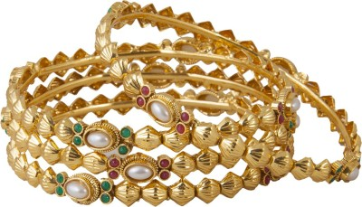 Inaya Copper Yellow Gold Bangle Set