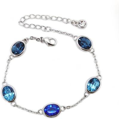 Beora Alloy Swarovski Crystal Platinum Bracelet
