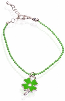 Trendy Baubles Metal Rhodium, Enamel Charm Bracelet