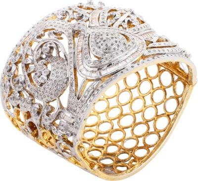 Dilan Jewels Alloy Zircon 18K Yellow Gold Kada