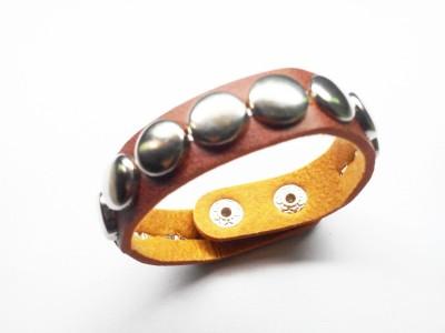 Uma Leather, Alloy Bracelet