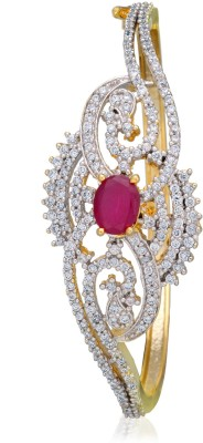 Alysa Alloy Ruby Yellow Gold, Rhodium Bracelet