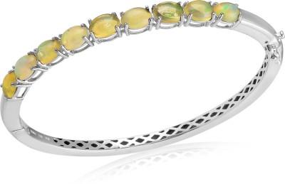 Rosesn Ribbons Silver Opal Rhodium Bracelet