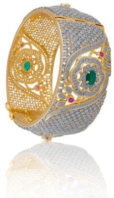 Alysa Brass, Copper, Silver Cubic Zirconia Yellow Gold, Rhodium Bracelet