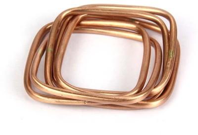 Kalpaveda Copper Copper Bangle(Pack of 5)