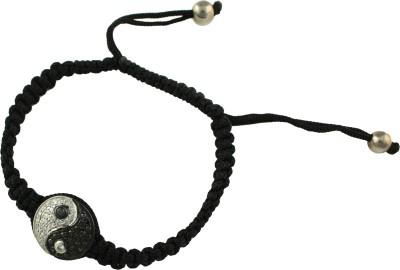 Jewelslane Silver, Copper, Fabric Bracelet