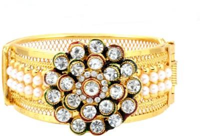 Alysa Alloy Pearl Yellow Gold, Rhodium Bracelet