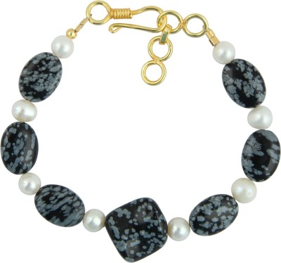 Pearlz Ocean Alloy Pearl, Quartz Yellow Gold Bracelet