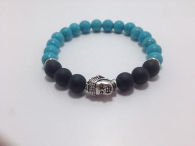 Navaratinam Stone Turquoise, Onyx Bracelet