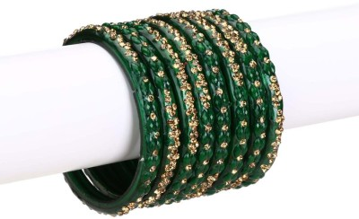 Somil Glass Crystal Enamel Bangle Set(Pack of 8) at flipkart