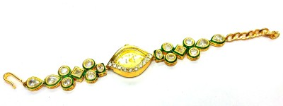 Prakash Jewellers Copper Jade 22K Yellow Gold Bracelet