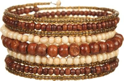 DCA Glass, Wood Bracelet