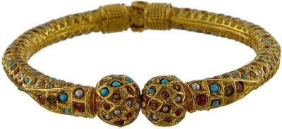 Kushals Fashion Jewellery Copper Yellow Gold Kada