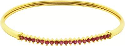 Ishaani Brass Cubic Zirconia 18K Yellow Gold Bracelet