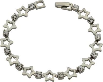 Hightrendz Alloy Cubic Zirconia Sterling Silver Bracelet