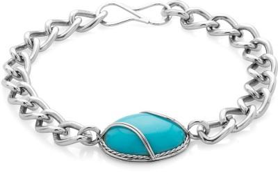AQ Alloy Onyx Silver Bracelet