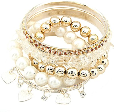 Young & Forever Alloy Pearl Bracelet Set